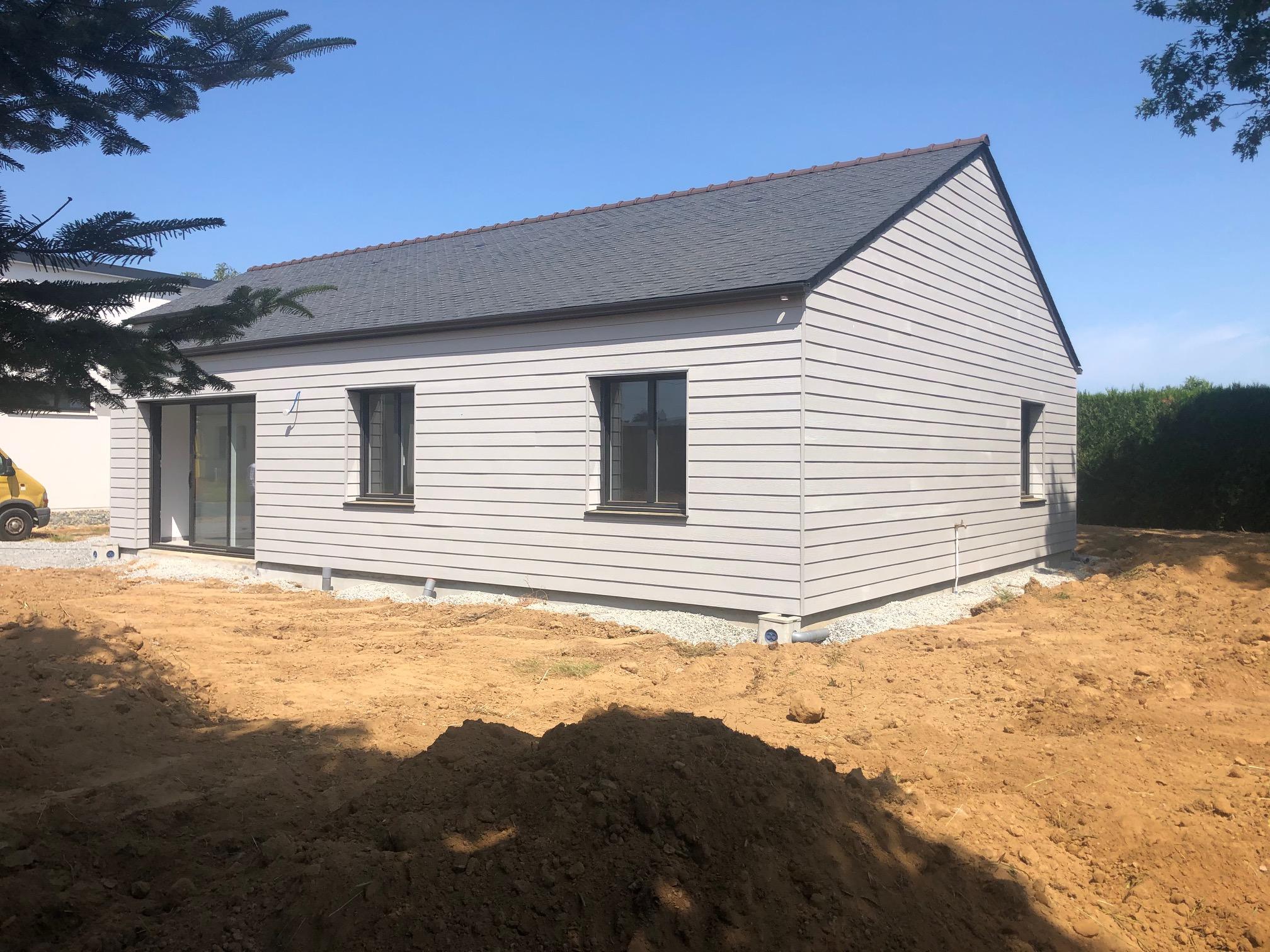 Maison à ossature bois Bardage James Hardie, Menuiseries ALU BOUVET gamme Novaltuce 2
